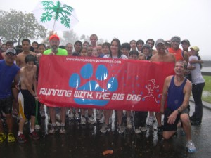 Smiling in the Rain, just prior to start of 5K run/walk