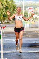 Jonatha Giddens, women's winner of '08 Hilo Marathon