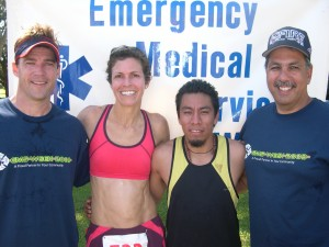 Jesse Ebersole, Sally Marrack, Germain Ortiz, Fire Chief Daryl Oliveira