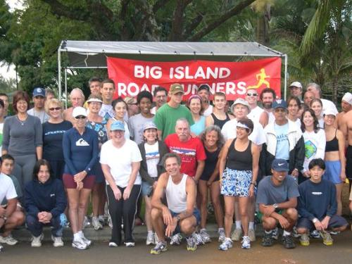 Members of the Big Island Road Runners pose for a photo
