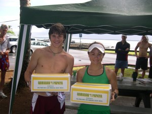 Overall winners, Donald Truesdell & Cindy Fuke with their prize