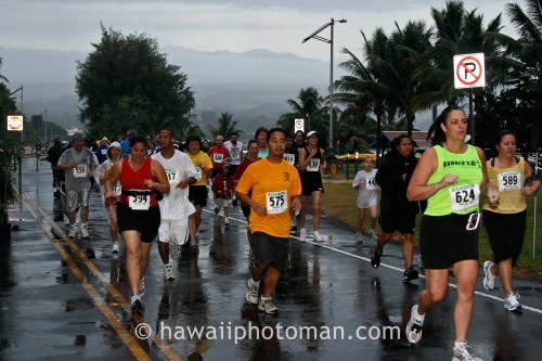 Runners participate in the annual Big Island International Marathon