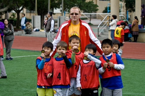 Chandler promoting soccer in Taiwan