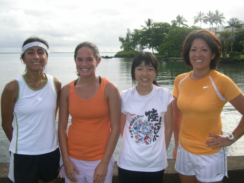 left to right: Laura Hernandez Otriz, Deann Thornton, Sonoka Takewaka, Esther Kanehailua