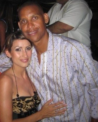 Hilo's Rachel Thompson with Reggie Miller