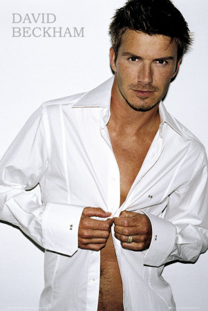 Professional soccer player David Beckham