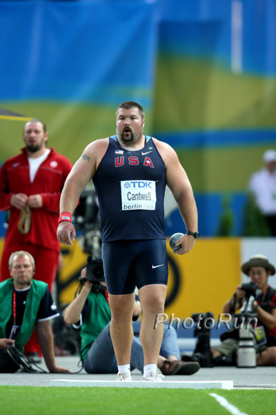 Christian Cantwell, USA, win shot put event in Berlin