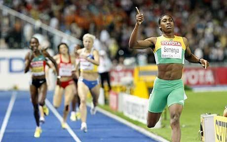 South African, Castner Semenya, won the 800 in Berlin