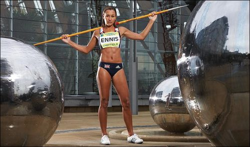 Jessice Ennis is the world's best in the Heptathlon