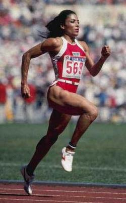 Florence Joyner 100-meter world record holder