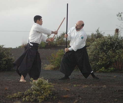 Robert Klein practices the art of Aikido