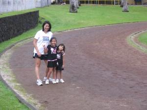 Dr. Mel & kids at Hilo track