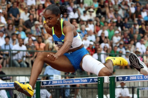 USA's Michelle Perry, 110 meter hurdle champion
