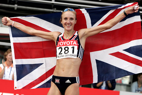 Paula Radcliffe of Great Britian ranks as one of the fastest 5000 meter runners in the world