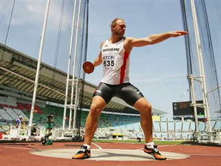 Robert Harting, Germany, discus champion