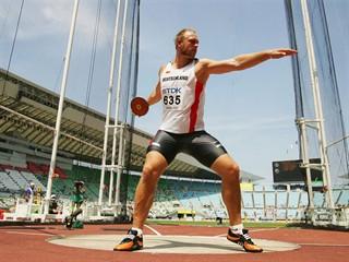 Robert Harting, Germany, discus champion