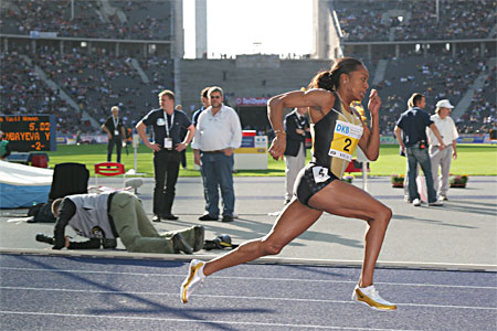Sanya Richards, USA, winner of the 400 in Berlin