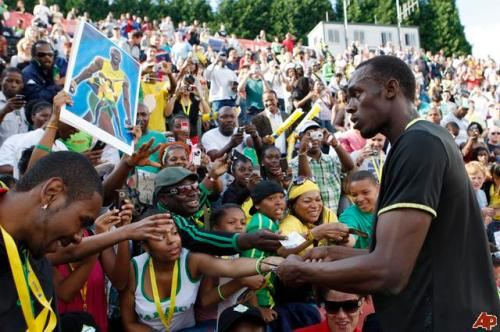 Usain Bolt is the world's fastest person alive