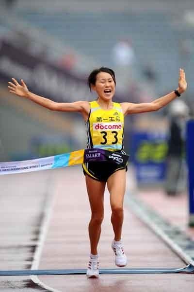 Japan's Yoshim Ozaki, placed second in marathon