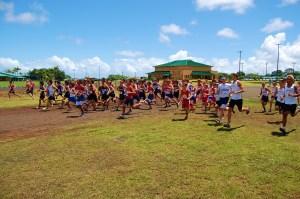Boy's Varsity start at Kamehameha, photo by Dan Wills