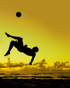Soccer fun for Eric Franke