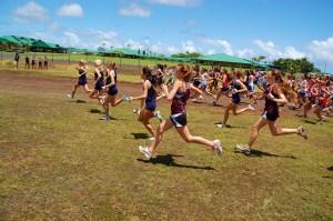 Girl's Varsity start at Kamehameha, photo by Dan Wills