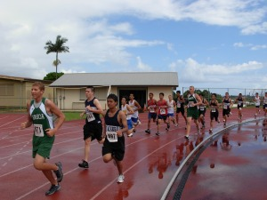 BIIF cross-country boys at Waiakea