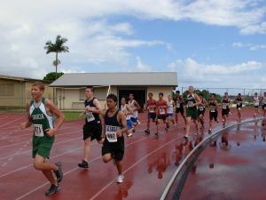 BIIF cross-country boys at Waiakea