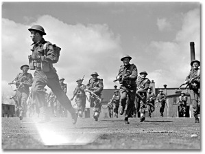 soldiers running photo