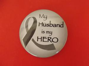 My wife Randee wears this button to KMS and makes me proud